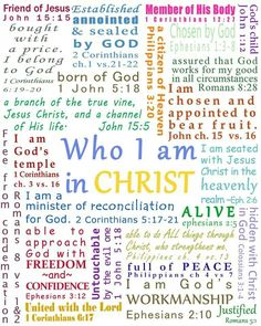 Who I am in Christ... #Scripture #BibleStudy