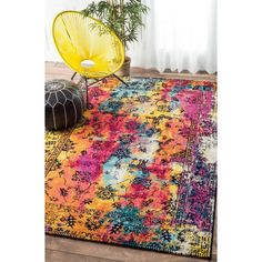 nuLOOM Vintage Vibrant Watercolor Floral Multi Rug  (5' x 8') | Overstock.com Shopping - The Best Deals on 5x8 - 6x9 Rugs
