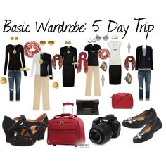My Capsule Wardrobe Basics ~  5 Day Trip