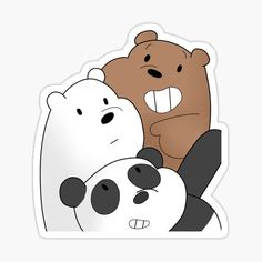 Stickers Cool, Cartoon Stickers, Printable Stickers, Tumblr Stickers, Pink Wallpaper Iphone, Bear Wallpaper, We Bare Bears Wallpapers, We Bear, Aesthetic Stickers
