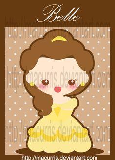 Disney Chibi princess tinkerbell | Chibi Belle by macurris