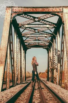 Find an old bridge - makes for a beautiful backdrop! Find an old bridge - makes for a beautiful backdrop! Summer Senior Pictures, Softball Senior Pictures, Senior Photos Girls, Train Senior Pictures, Senior Pics, Railroad Senior Pictures, Senior Posing, Senior Session, Senior Year