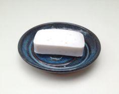 Handmade Pottery Soap Dish for Bathroom or Kitchen Sponge
