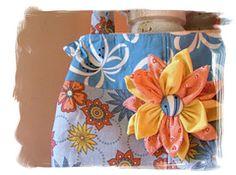 coudre chic ~ titzy: fleur de tissu tutoriel