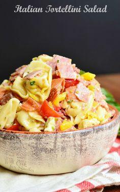 Italian Tortellini Salad 1 from willcookforsmiles.com