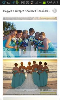 Flowers and bridesmaid dresses