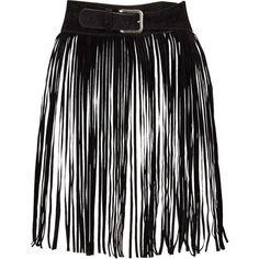 Fringed Festival Belt ($29) ❤ liked on Polyvore featuring accessories, belts, skirts, fringe belt and buckle belt