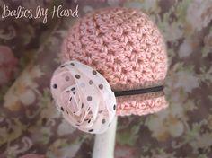 Crochet Newborn Baby Hat Baby Girl Crochet Hat by BabiesByHand, $20.00