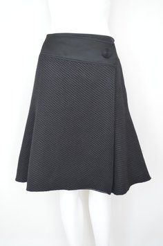 Armani Collezioni Full Skirt Black Originally 750, now only 86.99 - #armanicollezioni #luxuryfashion #fashiondeals #nordstrom #ebay #tradesy #kilts #fullskirt #teaskirt #britishfashion #italiandesign #readytowear