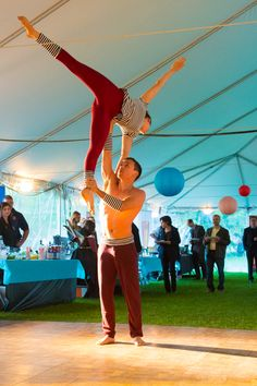Acrobats under Standard Frame Tent. Art Festival, Tents, Special Events, Anniversary, Celebrities, Frame, Teepees, Picture Frame, Celebs