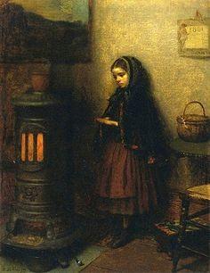 Eastman Johnson (1824-1906) - Warming her Hands