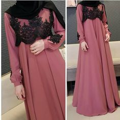 Why did Muslims women wear the HIJAB? Muslimah Wedding Dress, Hijab Style Dress, Muslim Wedding Dresses, Muslim Dress, Abaya Fashion, Fashion Dresses, Hijab Evening Dress, Moslem Fashion, Abaya Designs