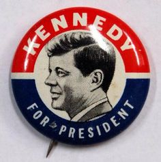 Advertising pin for JFK's presidency campaign from the British Museum collection