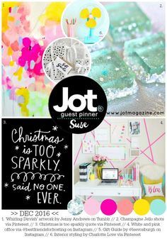 Over at Jot Magazine there is a fresh and inspirational new Christmas mood board. It's so happy and Summery I just couldn't wait to play a...