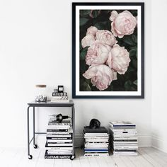 Featuring a beautiful rose bush in feminine tones of pink, this art print was originally hand painted by our in-house artist team, and now available as a reproduction giclée art print (archival using pigment inks), unframed or framed. Size & frame colour options available. We ship worldwide. #ThePrintEmporium #botanical #floral #art #canvas #print #roses #wallart #floralart #pink #moody www.theprintemporium.com.au