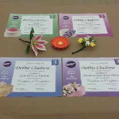 Debbie Chadrow just completed all 4 Wilton classes.  Job well done!  Excellent flowers!
