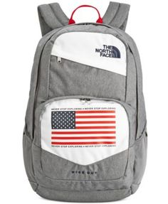 The red, white and blue give this classic backpack from The North Face added style, along with the organization you need to keep your gear together on the go. Diy Backpack, Backpack Online, Jansport Backpack, Cute Backpacks, School Backpacks, North Face Backpack School, Mochila Adidas, Backpack Pattern, Backpack Reviews