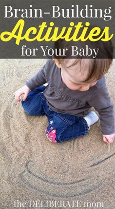 Love this list of brain-building activities for babies! When you're not sure what to play with your baby, use this list!