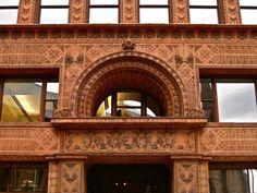 https://flic.kr/p/6pwZCb   Dankmar Adler and Louis Sullivan / Prudential Building (formerly Guaranty Building) / Buffalo, New York / 1895-1896   28 Church Street National Historic Landmark