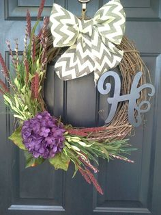 Personalized monogram grapevine wreath with by AutumnWrenDesigns, $49.00