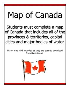 FREE Map of Canada Assignment