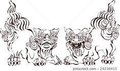 Foo Dog, Line Drawing, Find Image, Royalty Free Stock Photos, The Incredibles, Drawings, Illustration, Sketches, Illustrations