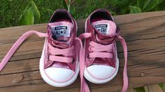 Pink Glitter Converse Bling Baby Shoes for a Girl by GlittyCity, $44.99