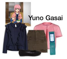"""Yuno Gasai Mirai Nikki / The Future Diary"" by starrydancer ❤ liked on Polyvore featuring Gio' Guerreri"