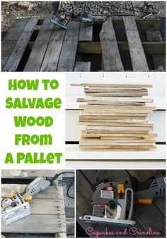 How to take apart a pallet easily for usable DIY wood.
