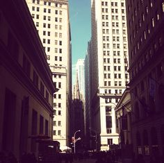 Wall Street.Financial District New York, NYC