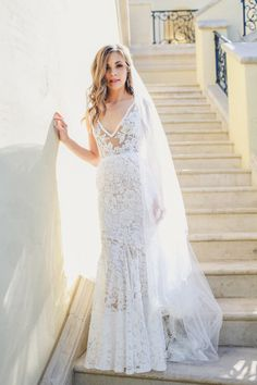Lace dress: http://www.stylemepretty.com/little-black-book-blog/2014/10/07/glamorous-villa-del-lago-wedding/ | Photography: Christina Carroll - http://christinacarrollphotography.com/