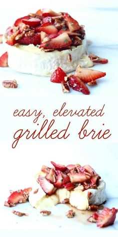 · 1 reviews · Vegetarian Gluten free · Savor the last bits of summer! This grilled brie with strawberries and soy balsamic glaze is an easy, elevated appetizer.