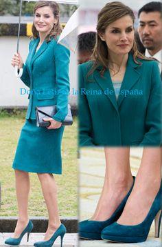 Queen Letizia wore a new Felipe Varela suit, Magrit shoes