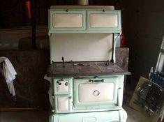 Antique Cast Iron Kitchen Stoves | Antique Wood Stove - Porcelain And Cast Iron