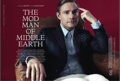 Martin Freeman (британский актёр сыгравший главные роли в фильмах «Хоббит» и сериале BBC «Шерлок») – разговоры об одежде, сцене, и о том, каково быть модом в XXI веке. | YOUNGS CLUB