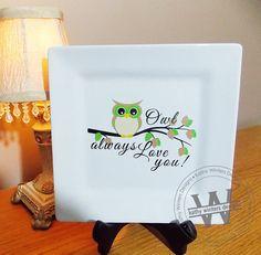 Owl Always Love You Vinyl Lettering Square by KWintersDesigns, $20.00