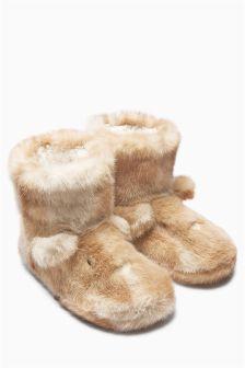 814d9176f7f47f Next Cream Faux Fur Character Slipper Boots £18 Pyjamas