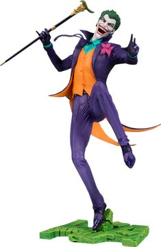 """The Joker Statue Sideshow and DC Collectibles are proud to announce the DC CORE line of 9"""" premium PVC statues that features dynamic poses atop integrated character specific bases and gives fans a way to proudly display their favorite DC characters at home, work or wherever you want to showcase your fandom!"""