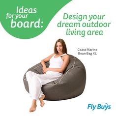 Super comfy outside sitting on one of these! Coast New Zealand Marine Bean Bag - XL Bean Bag Xl, Outside Furniture, Outdoor Living Areas, Bean Bag Chair, The Outsiders, Coast, Outdoors, Teaching, Lifestyle