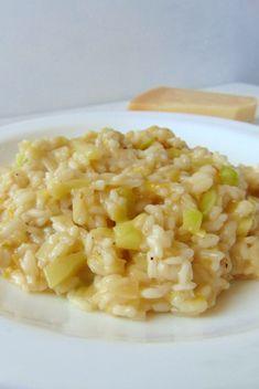 risotto de puerros y calabacin