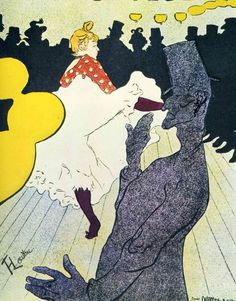 post impressionist art   Can Can - A post impressionist toulouse lautrec art wallpaper picture