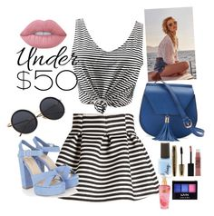 """""""Untitled #76"""" by roxana27 ❤ liked on Polyvore featuring Molo, Yoki, Lime Crime, L'Oréal Paris, Maybelline, NYX, Victoria's Secret, under50 and skirtunder50"""