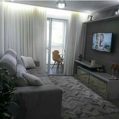 Home Decoration Do It Yourself Code: 7373997843 Small Apartment Living, Condo Living, Small Living Rooms, Home Living Room, Living Room Designs, Living Room Decor, Bedroom Decor, Apartment Interior, Apartment Design