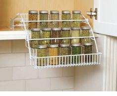 Rubbermaid Pull Down Spice Rack   Easy Kitchen Storage Ideas for Small Spaces   Genius Kitchen Organization Ideas Dollar Store