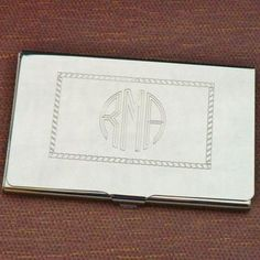 Custom Business Card Case - Nickel Plated This high quality business card holder can be monogramed as shown or we can put a name or special message on it. It is silver colo... #accessories #graduation #men #monogram #personalized ➡️ http://jto.li/Ae2ec