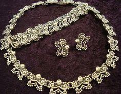 Vintage Design Margot de Taxco Design Mexican 950 Silver Bead Necklace, Bracelet and Earrings. Mexico | eBay