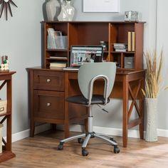 Belham Living Hampton Desk with Optional Hutch - Cherry - Desks at Hayneedle