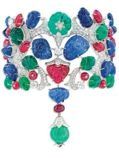 "An unique gem'set ""Tutti-Frutti Inde Mystérieuse"" bracelet, by Cartier"