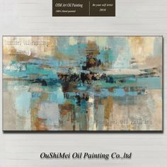 Modern Abstract Hand-painted Art Oil Painting on Canvas Wall Decor 24x36in…