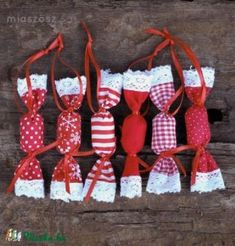 wrapped in textile - sweet idea Homemade Christmas Tree, Christmas Trees For Kids, Diy Christmas Decorations Easy, Christmas Ornament Sets, Valentines Day Decorations, Handmade Christmas, Christmas Crafts, Christmas Fabric Crafts, Christmas Projects